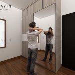 Lemari Pintu Geser Anti Rayap Model Minimalis