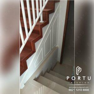 lemari bawah tangga anti rayap finishing duco semi klasik semi glossy