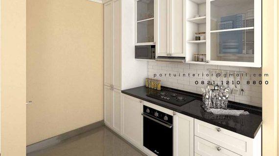 Tempat pembuatan Kitchen Set Custom Desain Semi Klasik
