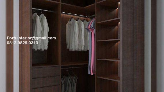 Custom Lemari Pakaian Terbuka Untuk Apartemen Id4797