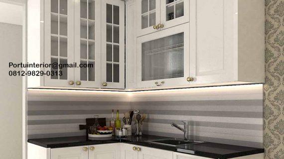 Kitchen Set UPVC Semi Klasik Putih Perumahan Citra Raya Cluster Taman Palma Cikupa