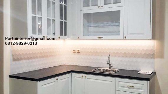 Kitchen Set UPVC Semi Klasik Putih Perumahan Citra Raya Cluster Taman Palma Cikupa Tangerang Id3954