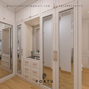 Ide Desain Walk in Closet Terbaru by Portu Interior 4969P